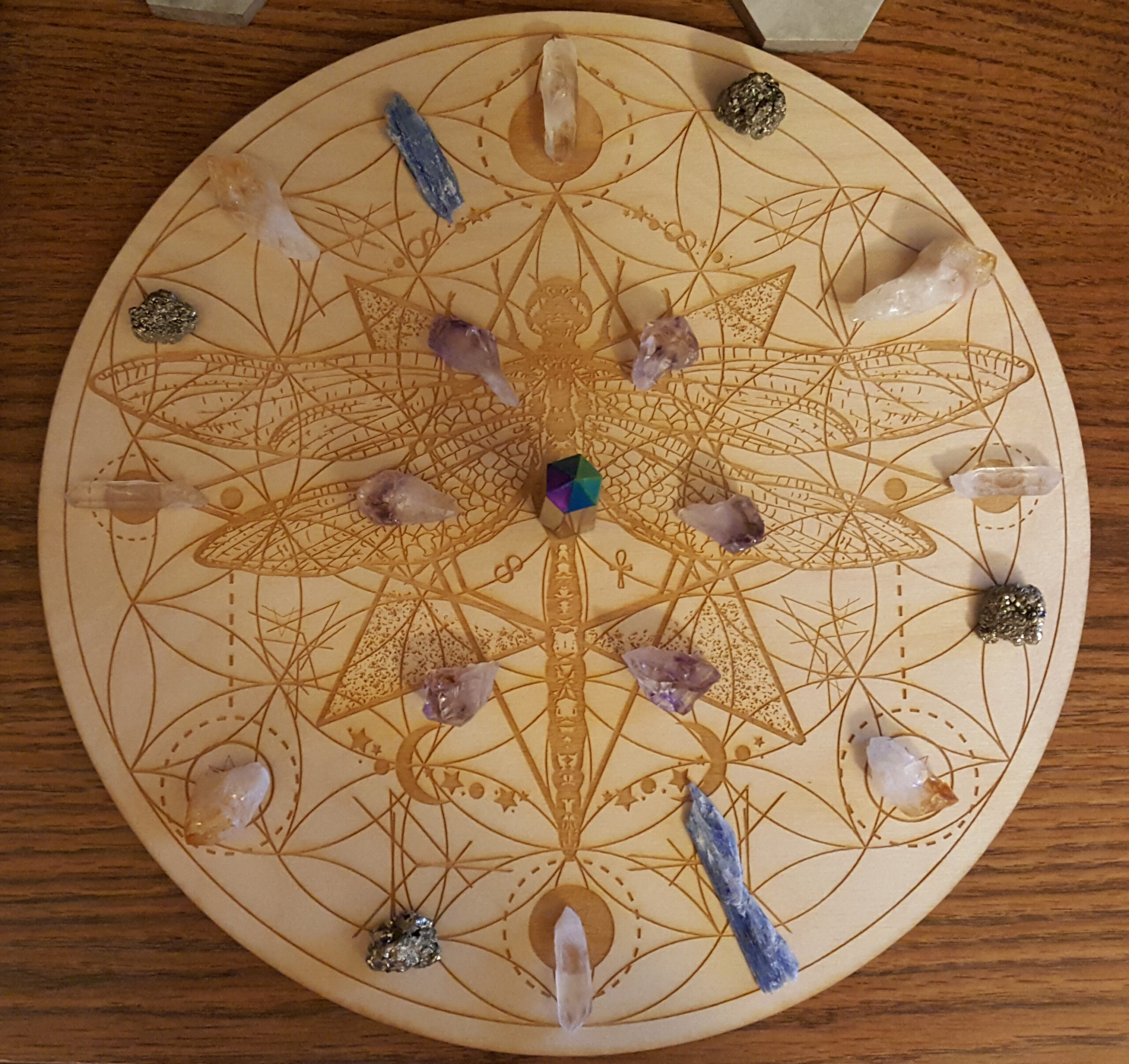2020 Samhain Blue Moon Prosperity Crystal Grid