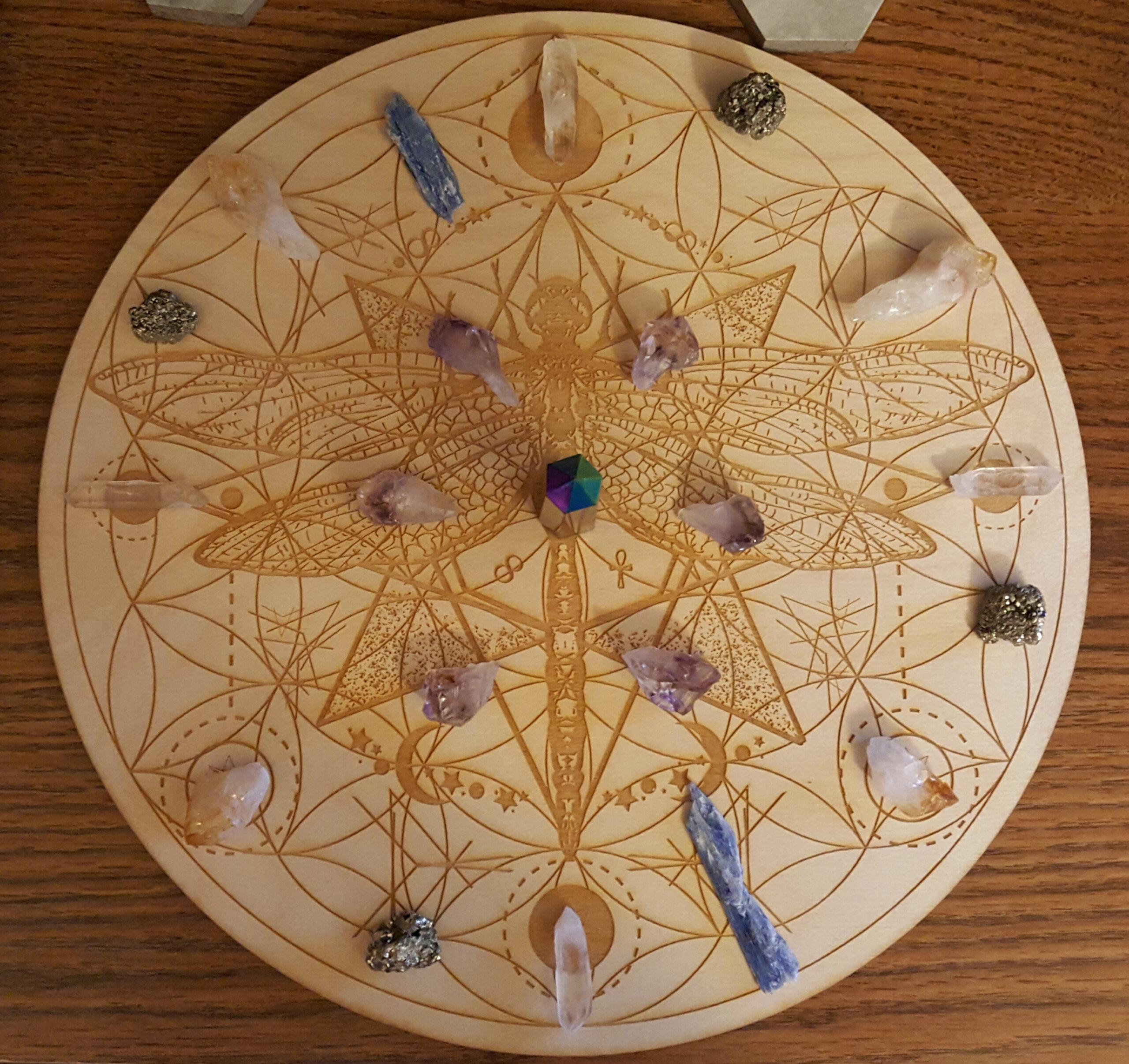 2020 Samhain Blue Moon Prosperity Crystal Grid